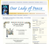 OLP Parish website home page