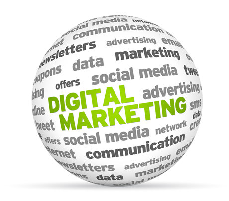Digital Marketing reaches global or local customers.